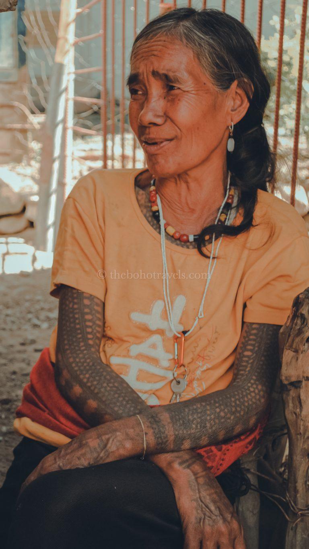 Tattooed woman in Buscalan, Kalinga