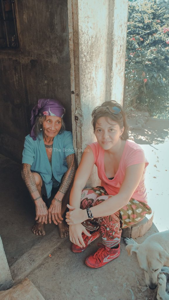 Tara and Lola with Tattoo at Tinglayan, Kalinga