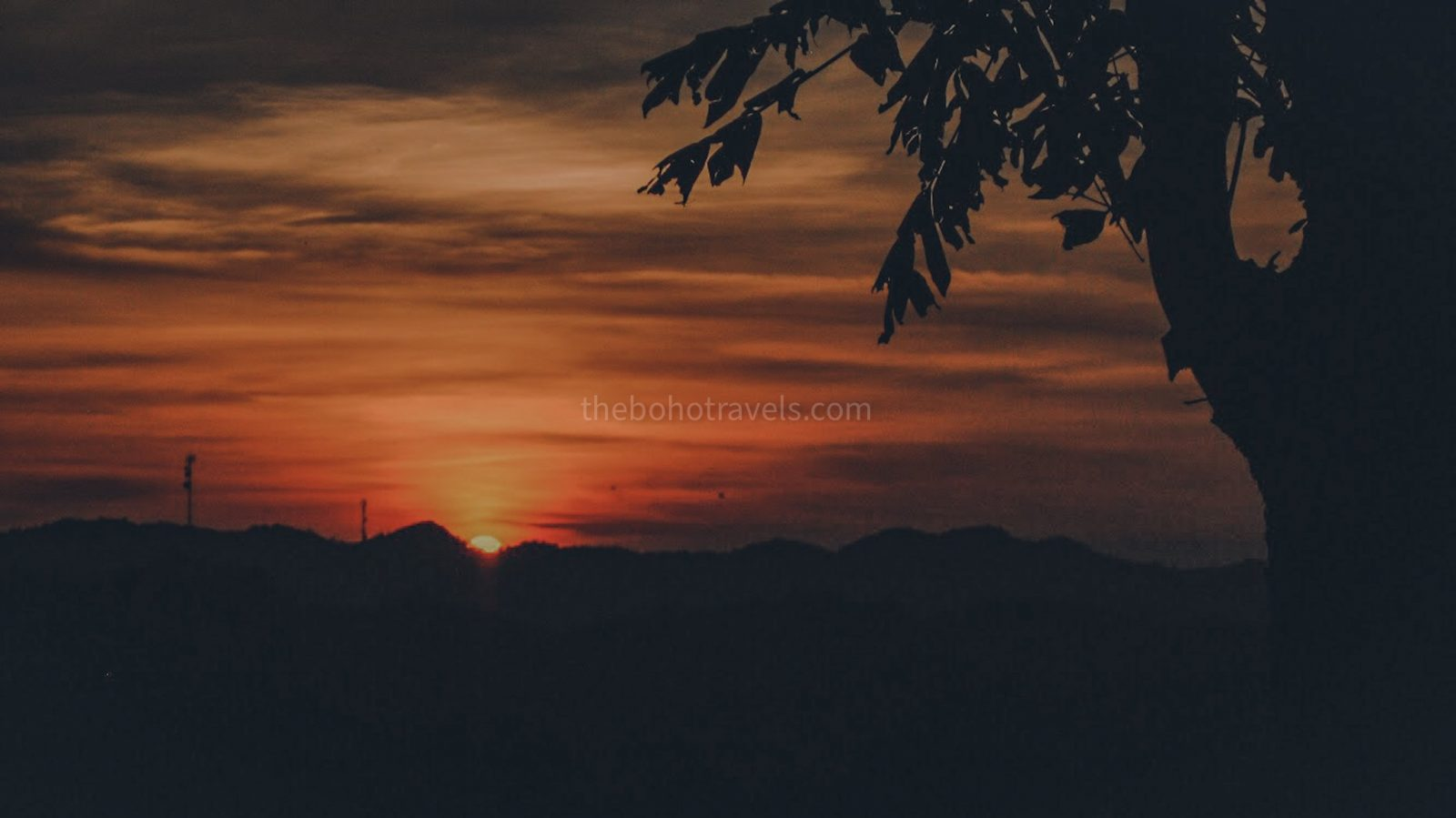 Bohol, Philippines: Sunset at Chocolate Hills